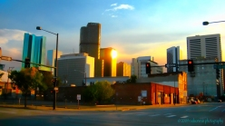 Downtown Denver sunset from Great Divide Brewing