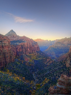 No wonder early Mormon settlers found this place sacred. Canyon Overlook, Zion NP, UT