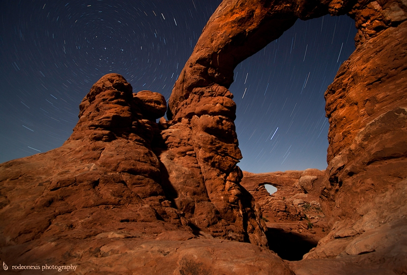 Arches National Park, and a sendom viewed angle into the Window's District