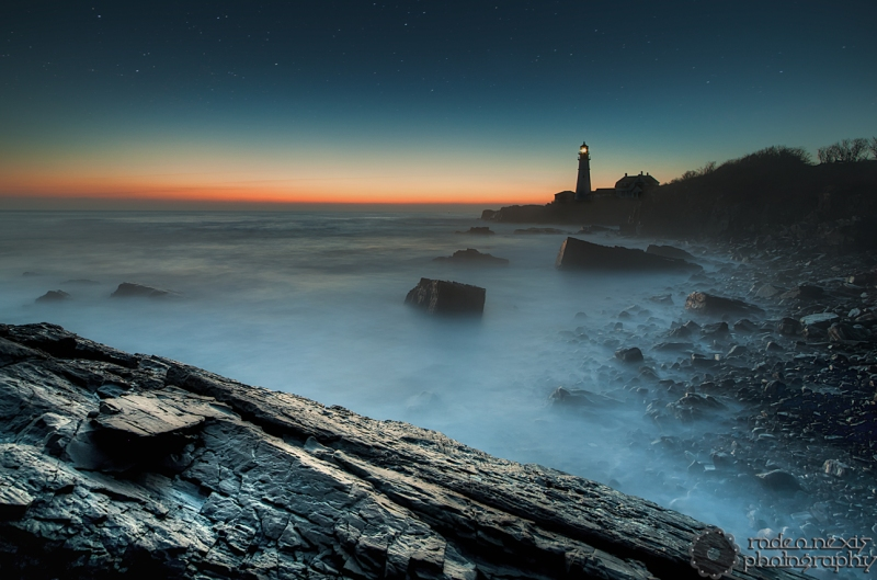 Seeing the world differently starts just outside your front door. Above: a 25 second exposure of Portland Head Light. Cape Elizabeth, ME.