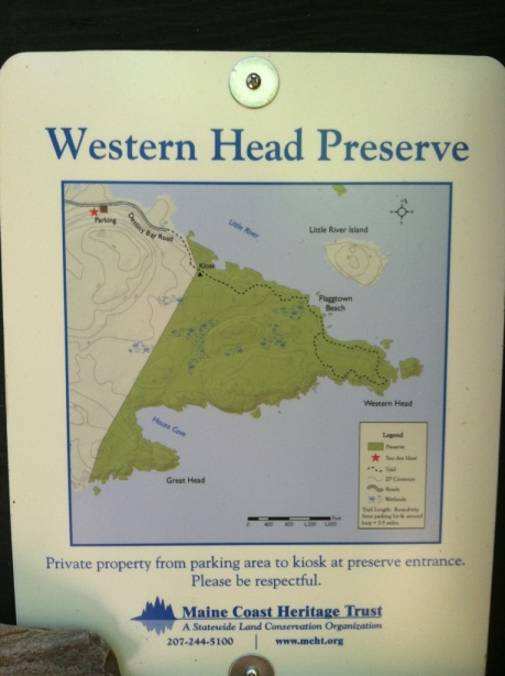 Western Head Preserve Map