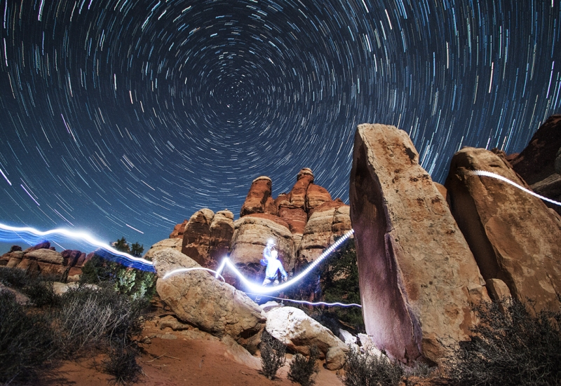 An ode to Raiden from Mortal Kombat. 30 minute exposure at CP1