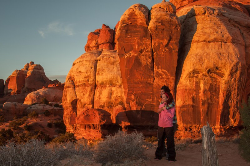 As the dying sun set the red rocks on fire, we stood back and enjoyed the lightshow
