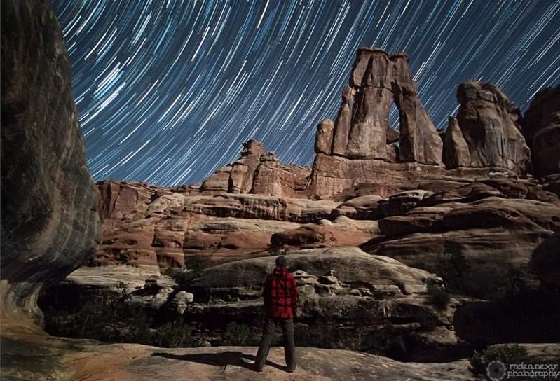 An alternate view of Druid Arch during a 30 minute exposure
