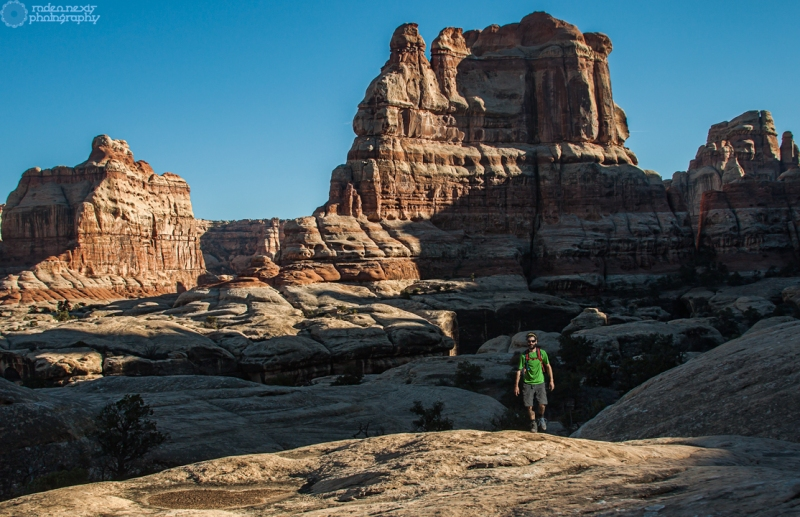 End of Elephant Canyon. Needles District, Canyonlands National Park.