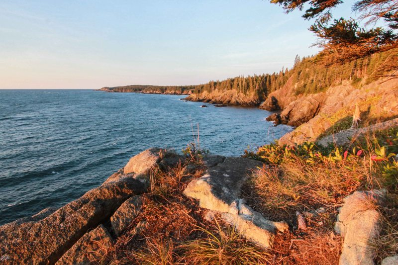 Just past the first viewpoint on the Coastal Trail. Looking SW toward Cutler, ME