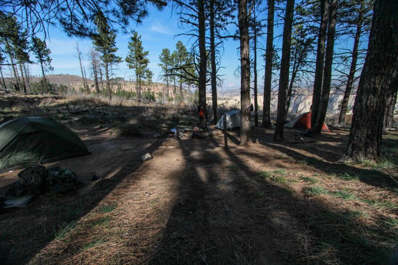 Campsite 1 on the West Rim Trail. Not the best pic but you get the idea...